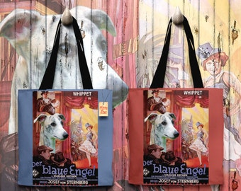 Whippet Art Tote Bag   The Blue Angel Movie Poster by Nobility Dogs