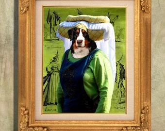 Bernese Mountain Dog Print Art Print 11 x 14 inch original illustration artwork giclee archival premium poster print