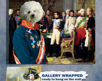 Bichon Frise Art Print Canvas Dog Lover  Gifts by Nobility Dog
