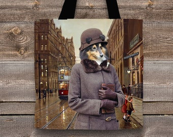 Shetland Sheepdog Art Tote Bag  by Nobility Dogs Arts