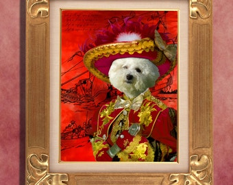 Bichon Frise  Art Print 11 x 14 inch original illustration artwork giclee archival premium poster print By Nobility Dogs