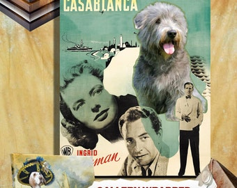 Glen of Imaal Terrier Art, Terrier Canvas Print, Terrier Portrait, Terrier Sticker Decal, Custom Dog Portrait - Casablanca Movie Poster