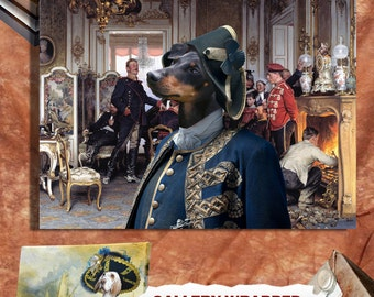 Manchester Terrier Art CANVAS Print Dog Lover  Gifts by Nobility Dogs