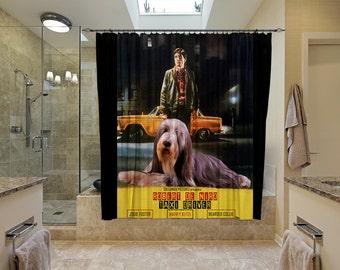 Bearded Collie Art Shower Curtain, Dog Shower Curtains, Bathroom Decor   Taxi Driver Movie Poster