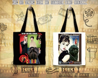 Affenpinscher Gifts Tote Bag Affenpinscher Dog Portrait inspired by Movie Poster  by Nobility Dogs