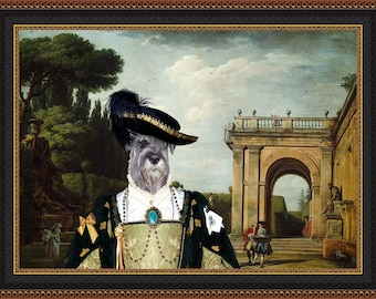 Schnauzer Art Canvas Print Dog Lover  Gifts by Nobility Dogs