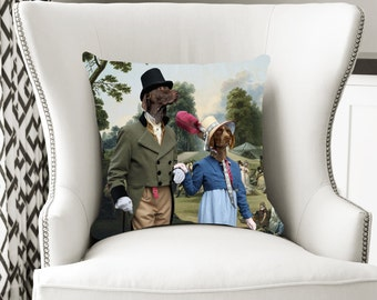 Christmas Gifts German Shorthaired Pointer Art Pillow     Dog Lover  by Nobility Dogs Arts