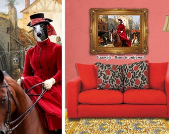 Whippet Art Canvas Print Dog Lover  Gifts by Nobility Dogs