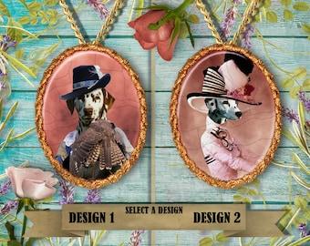 Dalmatian Jewelry. Dalmatian Pendant or Brooch. Dalmatian Necklace. Dalmatian Portrait. Custom Dog Jewelry by Nobility Dogs.Handmade Jewelry
