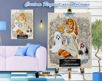 Shih Tzu Print Une Parisienne Movie Poster