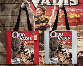 Neapolitan Mastiff Art Tote Bag - Quo Vadis Movie Poster   Perfect DOG LOVER Gift for Her Gift for Him