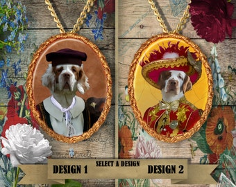 Clumber Spaniel Jewelry Pendant Nobility Dogs Handmade Gifts by Nobility Dogs