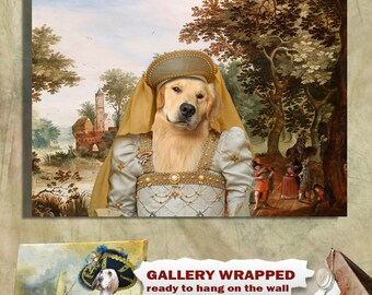 Golden Retriever Art CANVAS Print Dog Lover  Gifts by Nobility Dogs
