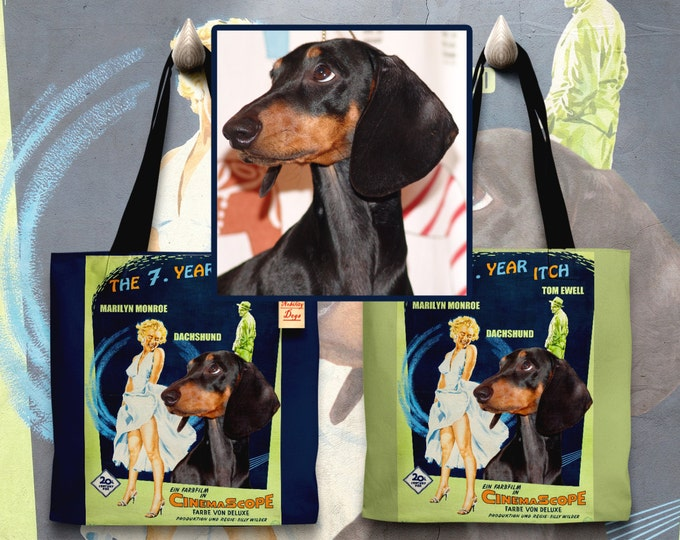 Featured listing image: CUSTOM Dog Portrait ,Cat Portrait, Dog Art Tote Bag Movie Poster NEW by Nobility Dogs