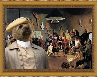 Cairn Terrier Art Canvas Print Dog Lover Christmas Gift by Nobility Dogs