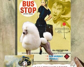 Standard Poodle Art Print Bus Stop Movie Poster