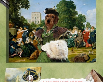 Wire Haired Dachshund Art Canvas Print Dog Lover  Gifts by Nobility Dogs