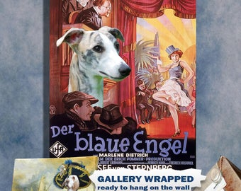 Whippet Art Print The Blue Angel Vintage Movie Poster by Nobility Dogs