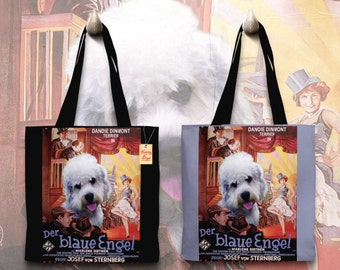 Dandie Dinmont Terrier Art Tote Bag   The Blue Angel Movie Poster by Nobility Dogs
