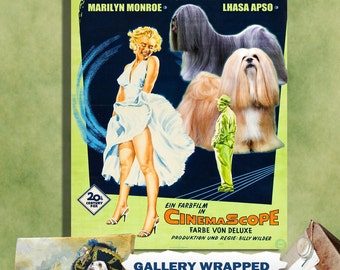 Lhasa Apso Art Print The Seven Year Itch Movie Poster