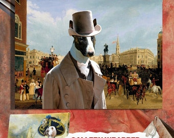 Bull Terrier Art Canvas Print Dog Lover  Gifts by Nobility Dogs