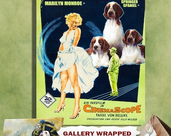 The Seven Year Itch Welsh Springer Spaniel Art Movie Poster