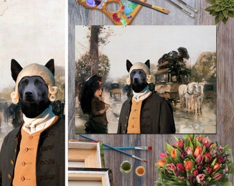 Australian Kelpie Art Canvas Print Dog Lover  Gifts by Nobility Dogs