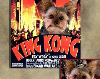 CUSTOM Dog Portrait Original Movie Canvas Fine Art by Nobility Dogs