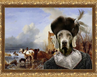 Weimaraner Art Canvas Print Dog Lover Christmas Gift by Nobility Dogs