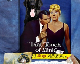 Flat Coated Retriever Print Fine Art Canvas - That Touch of Mink Movie Poster   Perfect DOG LOVER GIFT Gift for Her Gift for Him Home Decor