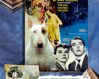 Bull Terrier Art The Man Who Knew Too Much Movie Poster