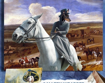 Toy Manchester Terrier Art CANVAS Print Dog Lover  Gifts by Nobility Dogs