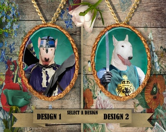English Bull Terrier Jewelry Handmade Gifts by Nobility Dogs