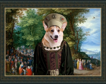 Welsh Corgi Pembroke Art Canvas Print Dog Lover  Gifts by Nobility Dogs