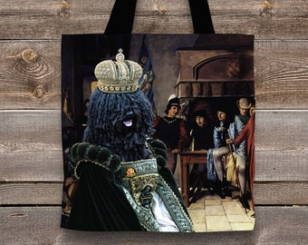 Puli Art Tote Bag  by Nobility Dogs Arts