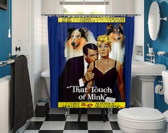 Collie Rough Art Shower Curtain, Dog Shower Curtains, Bathroom Decor - That Touch of Mink Movie Poster