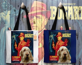 Italian Spinone Art Tote Bag   The Enforcer Movie Poster by Nobility Dogs
