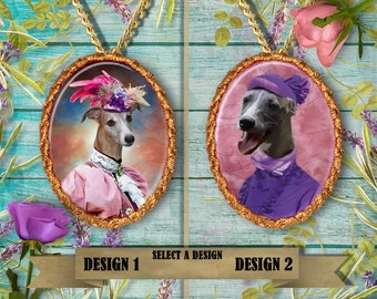 Whippet Jewelry Handmade Gift, Personalized Pet Gifts, Custom Dog Pendant by Nobility Dogs