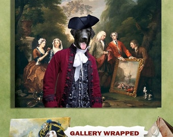 Curly Coated Retriever Dog Art Canvas Print Dog Lover  Gifts by Nobility Dogs