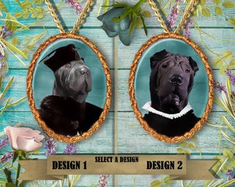 Shar Pei Jewelry Pendant by Nobility Dogs Handmade Gifts by Nobility Dogs