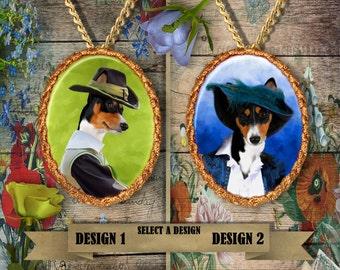 Basenji Jewelry. Basenji  Pendant or Brooch.Basenji  Necklace. Basenji  Portrait. Custom Dog Jewelry by Nobility Dogs.Dog Handmade Jewelry