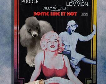 Poodle Vintage Movie Style Poster Canvas Print