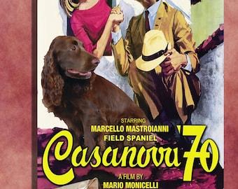 Field Spaniel Vintage Art CASANOVA 70