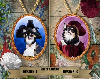 Chihuahua Jewelry Pendant Handmade Gifts by Nobility Dogs