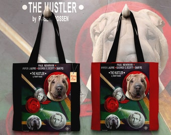Shar Pei Art Tote Bag   The Hustler Movie Poster    by Nobility Dogs