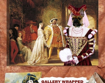 French Bulldog Art Canvas Print Dog Lover  Gifts by Nobility Dogs