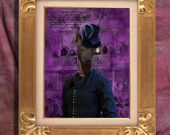 Mexican Hairless Dog - Xoloitzquintle Art Print 11 x 14 inch original illustration artwork giclee archival By Nobility Dogs