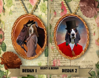 Basset Hound Jewelry Handmade by Nobility Dogs