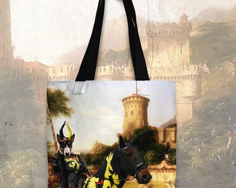 Bull Terrier Art Tote Bag  by Nobility Dogs Arts