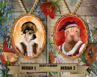 Shar Pei Jewelry Pendant by Nobility Dogs
